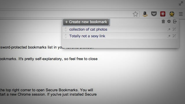 Secure Bookmarks Password Protects All Your Bookmarks