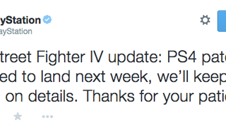 Sony says that a patch will hit next week for the very janky PS4 version of Ultra Street Fighter IV.