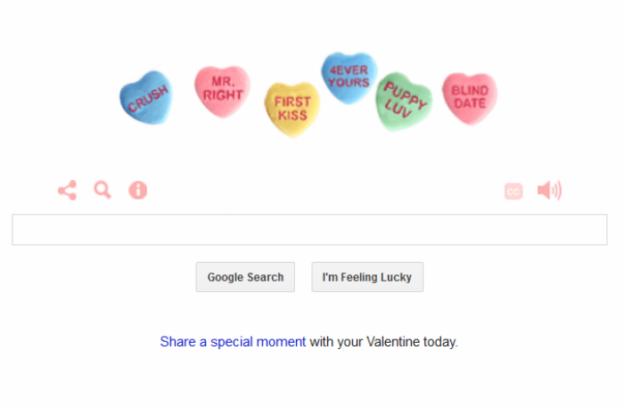 The Google Doodle Is Particularly Adorable for Valentine's Day