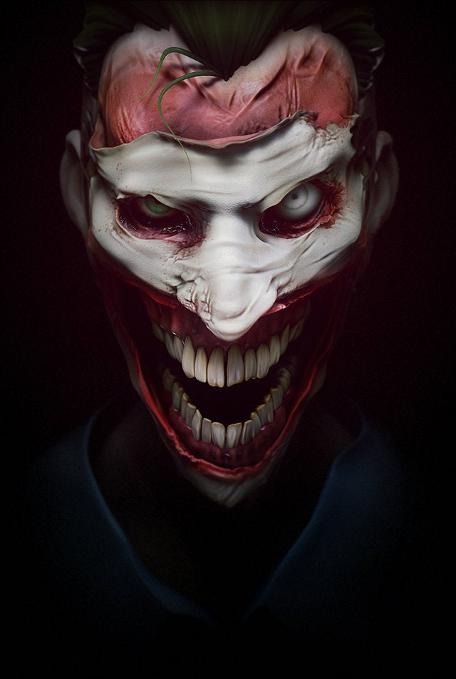 This Joker portrait is pure, nightmare fuel