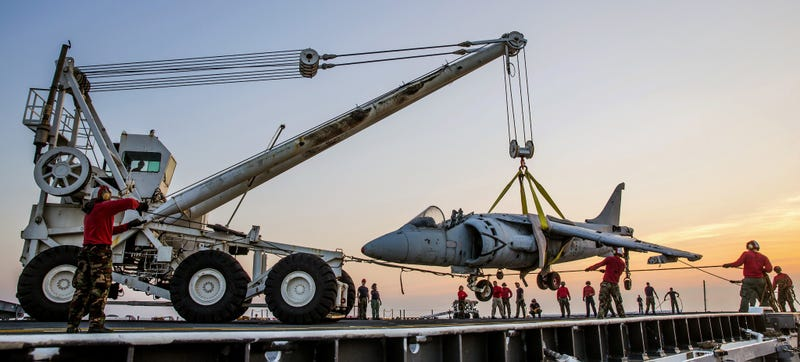 This is how they remove crashed airplanes off an aircraft carrier deck