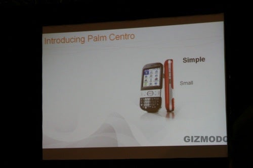 Palm Centro Launch Event (The Treo for Hobbits)