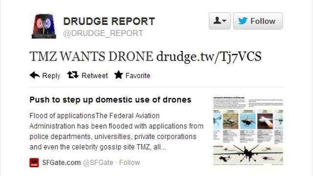 TMZ Denies Report Claiming It Wants Its Own Drone