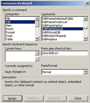 MS Office Tip: Assign a Keyboard Shortcut to a Word Menu Item