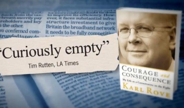 Vicious Attack Ad Targets Karl Rove's Book