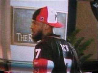 DeShawn Stevenson Rocks The Michael Vick Jersey