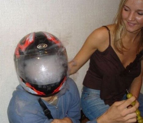 Caption This: Helmet Used As High Hat