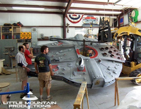Make-A-Wish turns one child's backyard into the Millennium Falcon