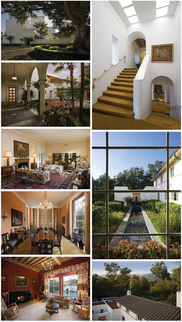 Drew Barrymore's Marvelous Montecito Mansion