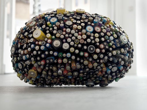 Ball of Batteries Re-Energizes Old Trash