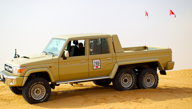 this 6x6 toyota land cruiser pickup is an unstoppable dune. Black Bedroom Furniture Sets. Home Design Ideas