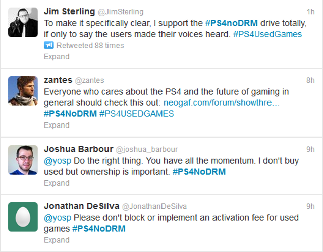 Twitter Rises Up In Protest Over The PS4's Rumored Used Games DRM