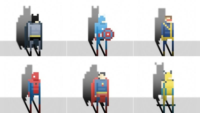 If Only a Game With Pixel Batman and Pixel Wolverine Actually Existed…