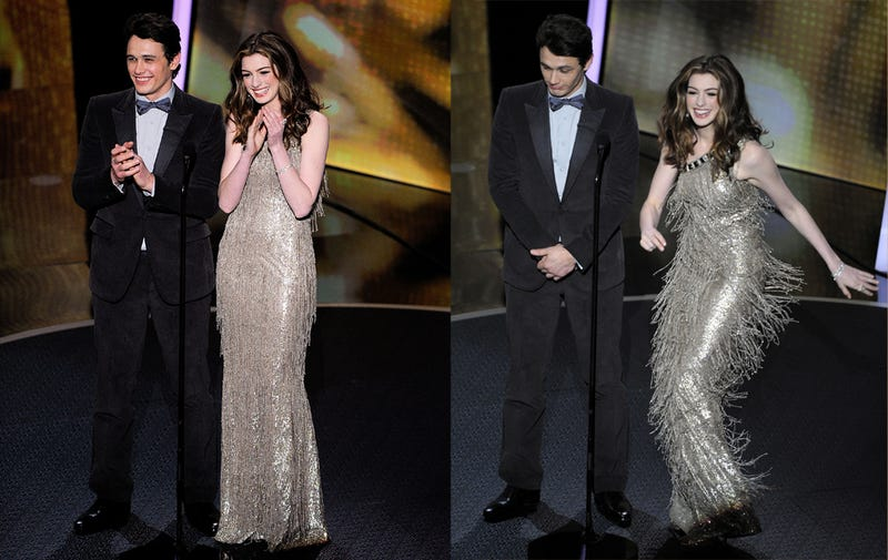Anne Hathaway's Gazillion Different Oscars Gowns