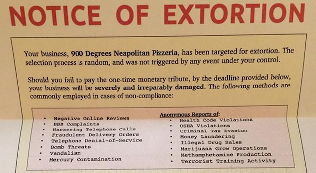 Pizza Shop: We're Being Extorted for Bitcoin. What's a Bitcoin?