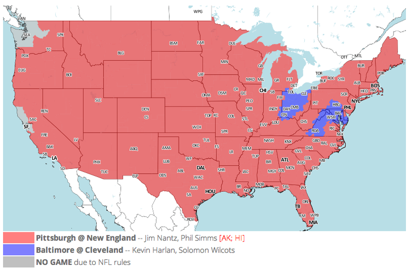 Which TV Market's Getting Screwed Today? Your Week 9 NFL Viewing Maps