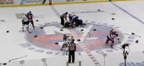 Islanders Decide Not To Showcase Bloody Brawl After All