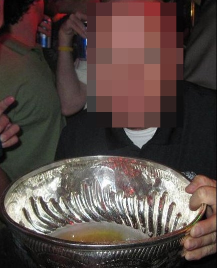 Beer In The Stanley Cup Looks Like Piss: More From The Patrick Kane Collection