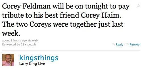 Celebs Mourn The Loss Of Corey Haim