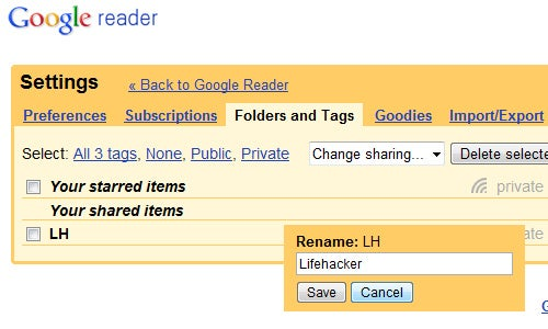 Google Reader Introduces Easy Folder and Tag Renaming