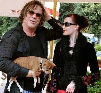 Mickey Rourke And Evan Rachel Wood Spotted Tongue-Wrestling
