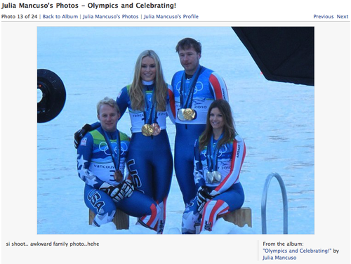 Mancuso's Facebook Fans Think Lindsey Vonn Is Fugly and Fat