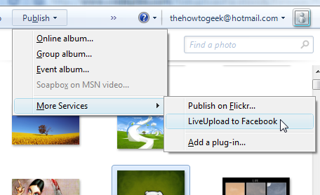 LiveUpload to Facebook Uploads Pictures from Windows Live Photo Gallery