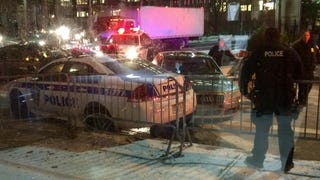"Motorist ""Aims"" His Car At Port Authority Police, Crashes Into Cruiser"