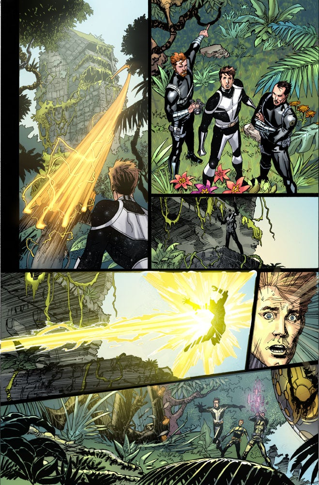 Isaac Newton versus the Marvel Universe! Check out an exclusive art preview of Marvel's S.H.I.E.L.D.
