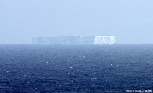 Huge Iceberg Drifting Towards Australia