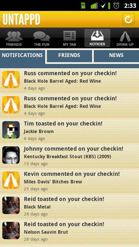 Untappd App Gallery