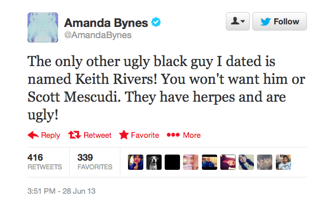 Amanda Bynes Says Giants Linebacker Has Herpes And Is Ugly
