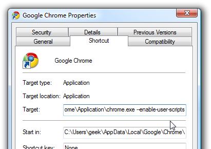Enable User Scripts in Google Chrome