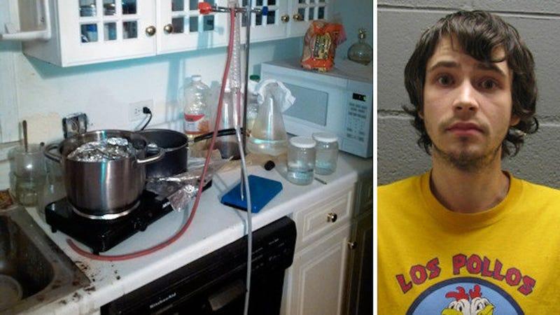 Meth Cook Busted Wearing Los Pollos Hermanos Shirt From Breaking Bad