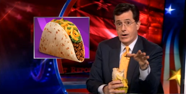 Stephen Colbert Discovers a Way to Eat 100% Meat at Taco Bell