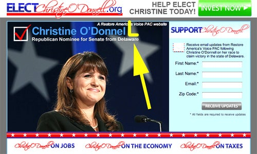 Christine O'Donnell's Supporters Need a Copy Editor (Updated)