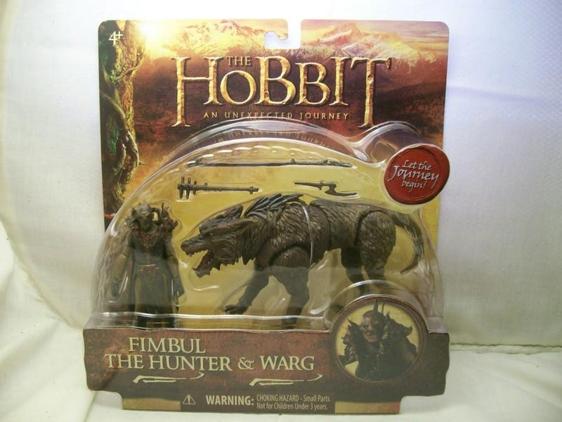 Hobbit action figures give us our first (blurry) look at Tauriel and a Warg