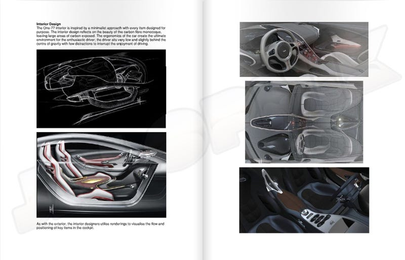 Aston Martin One-77 Details, Sketches And Interior Leaked