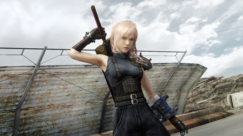 Lightning as Cloud Strife from Final Fantasy VII for Pre-Order Bonus