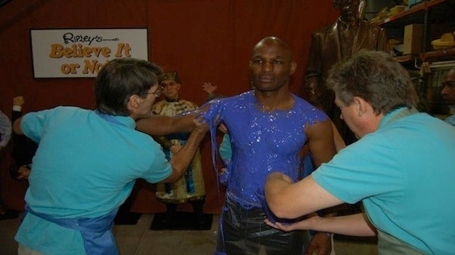 That Bernard Hopkins Wax Sculpture Is Taking Shape