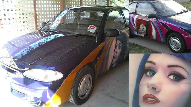 Buy A Creepy Katy Perry And Rihanna-Muralized Hyundai For Just $2,500
