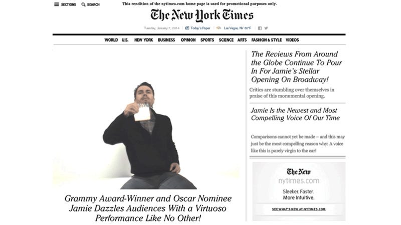 The NYTimes.com Is Relaunching By Putting Your Face on the Front Page