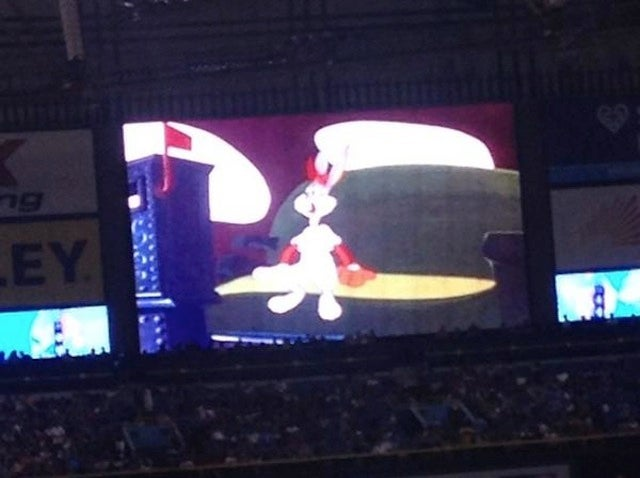 Rays Fans Watch Looney Tunes During Power Outage At Tropicana Field