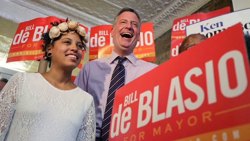 Bill de Blasio, the Anti-Bloomberg, Wins Democratic Mayoral Primary