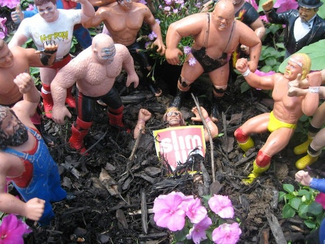 There Was A Poignant, Action Figure-Only Funeral For The Macho Man In A Backyard This Weekend