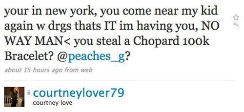 Courtney Love Accuses Peaches Geldof Of Drug Use, Theft