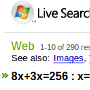 Let Live Search Do Your Algebra