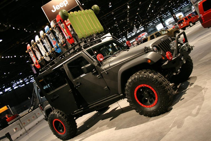 XBox Skateboarding Jeep Wrangler Unlimited