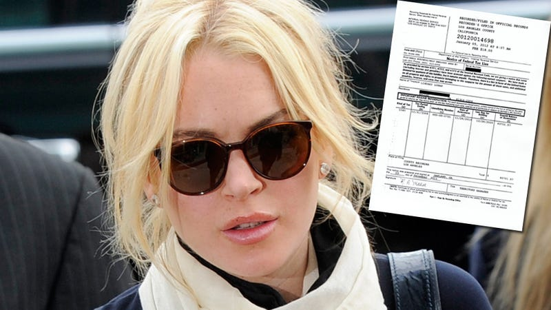 Lindsay Lohan Owes $94,000 in Back Taxes