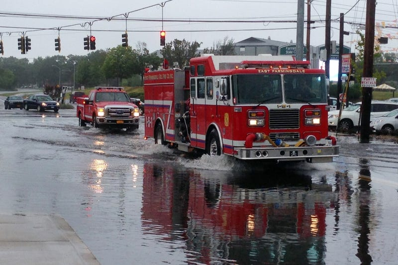"""Long Island Breaks New York State Record, Receiving 13"""" of Rain Today"""
